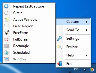 CaptureIt Plus is an easy to use screen capture utility for Windows Platform. Helps to capture screen in various modes.