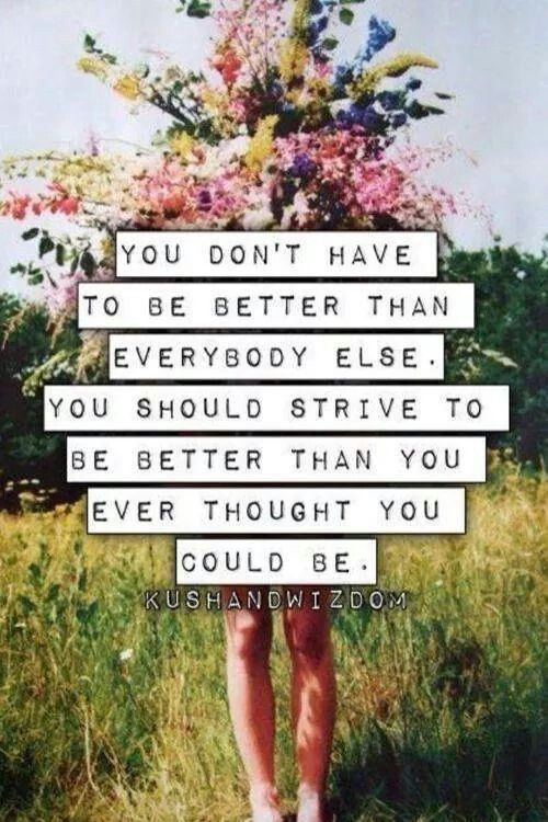 #goals #strive ¤be better today than you were yesterday¤