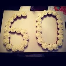 cupcakes 60th birthday - Google Search Do this with individual cheesecakes w/strawberries, her dessert of choice.