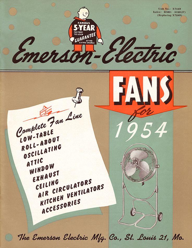 30 best emerson fans history images on pinterest ceiling fan 1954 emerson ceiling fans catalog aloadofball Choice Image