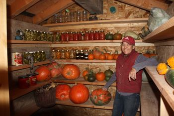(3 of 3) Inside the Root Cellar with tire walls