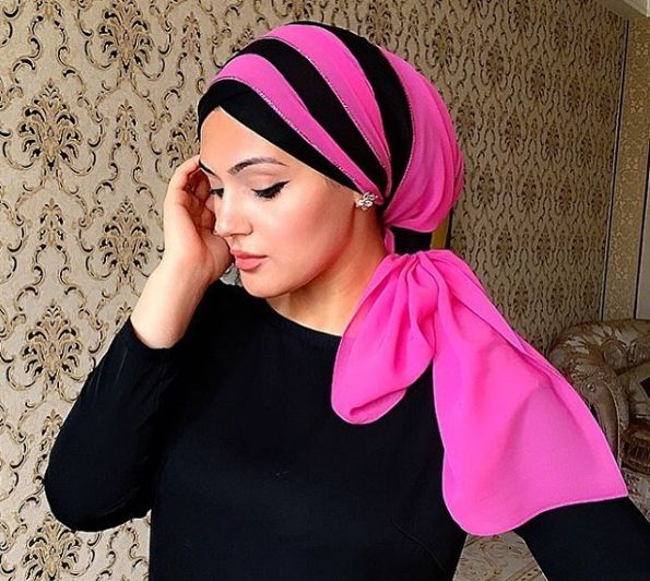 @makeup_saparova returns again with a beautiful hijab style that you can try if you're attending a women only special occasion, event or a party, her styles are typically made for such events where you want to rock a gorgeous maxi…
