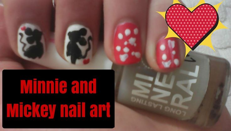 Valentine's day Minnie and Mickey nail art 2016 l Mirtoulini 29 http://youtu.be/4q5p0MDpcRA #mirtoulini29