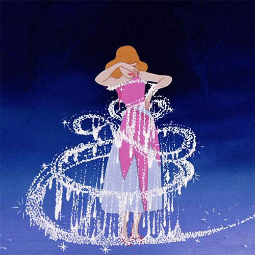 Day 26: Most Magical moment. Cinderella's transformation! Iconic magical Disney moment.