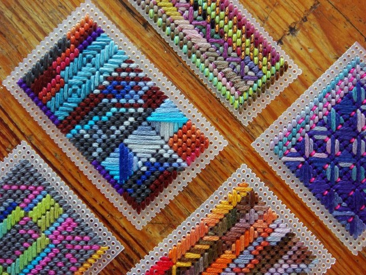 """needlepoint doodles on 14 mesh canvas"" LOVE IT! Never thought to doodle before (and I like to think I'm creative--pshaw!)"