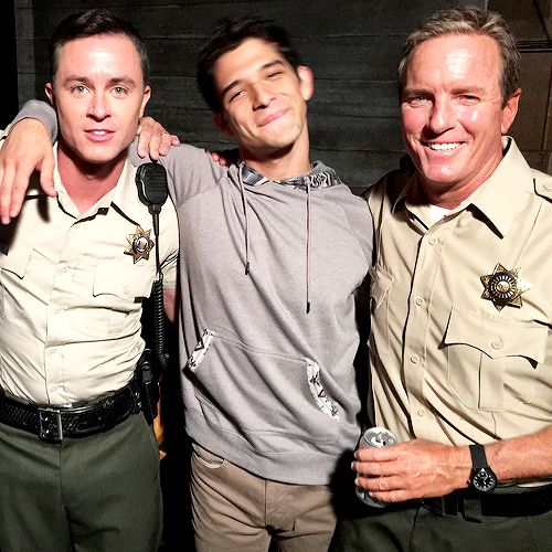 Teen Wolf - Ryan Kelley, Tyler Posey and Linden Ashby on the set of Teen Wolf 6B.
