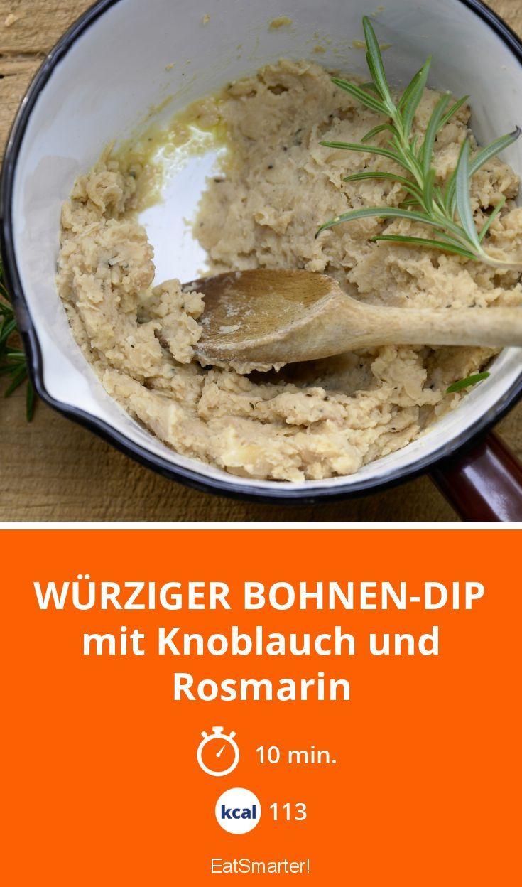 Würziger Bohnen-Dip - mit Knoblauch und Rosmarin - smarter - Kalorien: 113 Kcal - Zeit: 10 Min. | eatsmarter.de