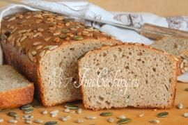 Пшенично-ржаной хлеб с семечками на закваске
