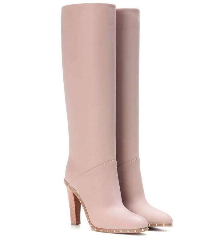 Stivali di pelle dalle collezioni Autunno Inverno 2016-2017 - Stivali rosa Valentino