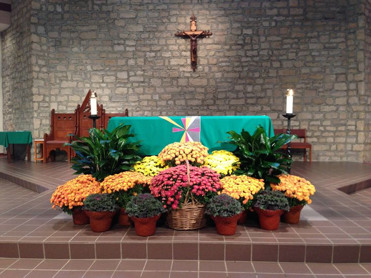 St joan of arc catholic church fall decorations for Decor st