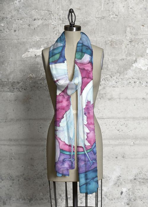 Cashmere Silk Scarf - Water and Berries by VIDA VIDA 3z1rX8f