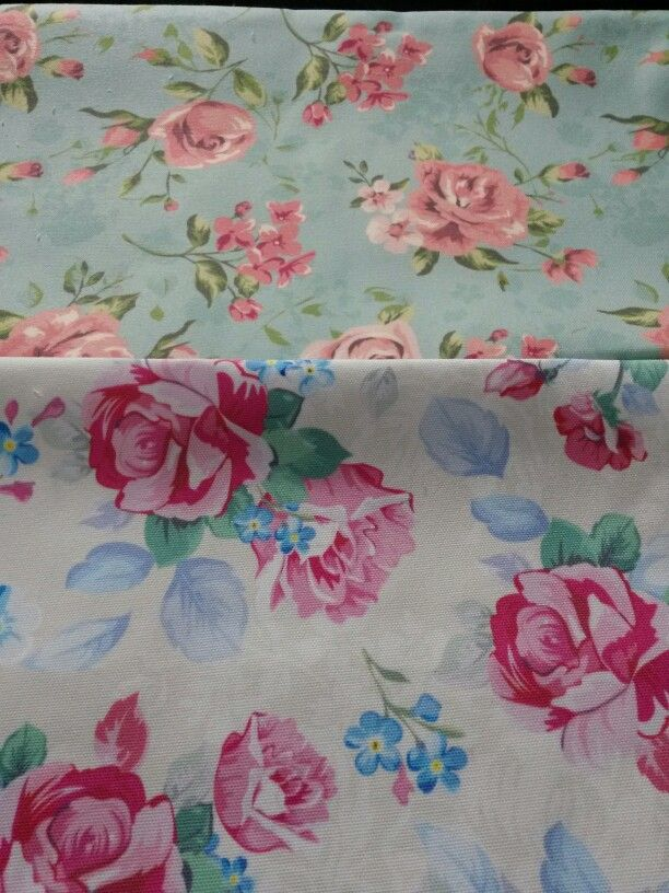 Shabby chic pattern on canvas