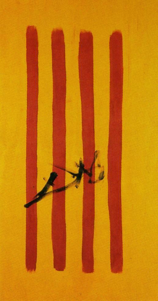 The Dalinian Senyera (Catalonian National Flag) - Dali Salvador