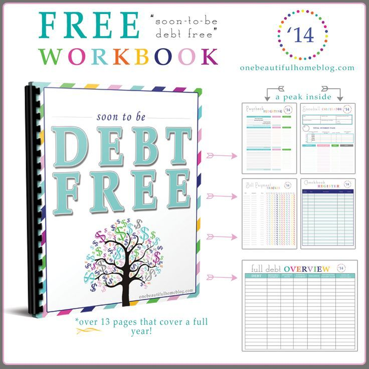 Free printable workbook for paying off debt and getting your finances in order! Student Loans Payoff #StudentLoans #debt