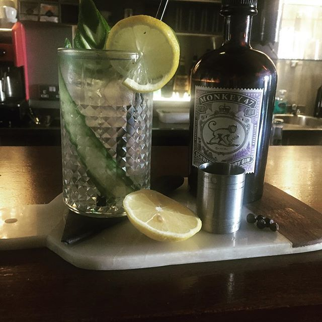 Monkey 47 Gin now in stock! Enjoy with fever tree tonic & cucumber .. #organiclife #touristdundalk #instafood #lovefood #healthy #dundalk www.eno.ie #eatateno