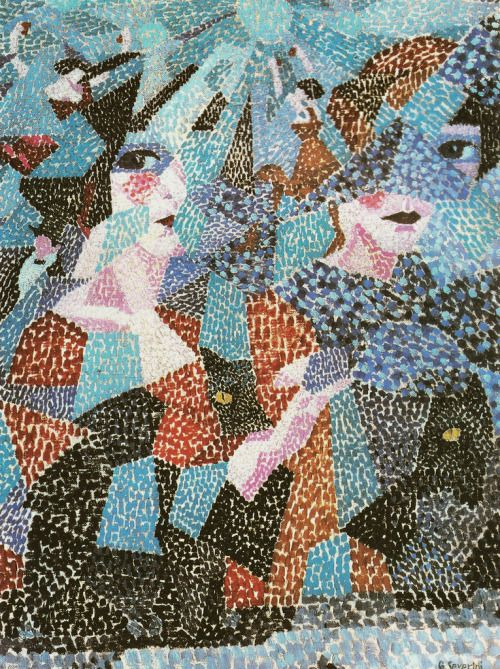 Umberto Boccioni (Italian, 1882-1916), La danseuse obsedante [The Haunting Dancer], 1911. Oil on canvas, 73.5 x 54 cm.