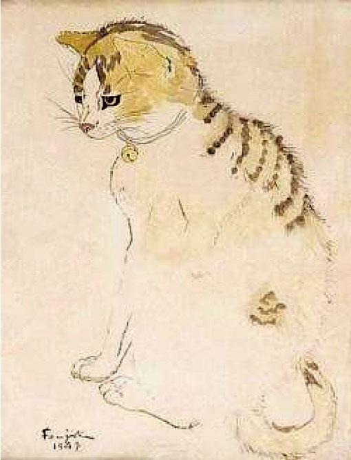 cat   Léonard Tsuguharu Foujita