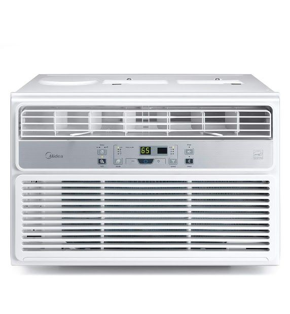 New Review Midea Window Air Conditioner 8000 Btu Easycool Ac Cooling Dehumidifier And Fan Functions For Rooms Up To 350 Sq Ft With Lcd Remote Control Mi
