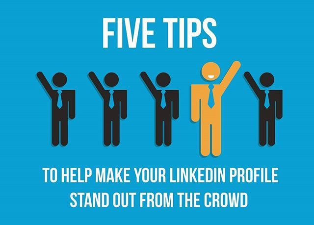 #Infographic: 5 ways to make your #LinkedInProfile stand out. #ContentMarketing #CamasSutra Write a full #JobDescription for each role #Proofread your profile Add #LinkedInGroups Change your user #URL #LinkedIn can act as an #online CV