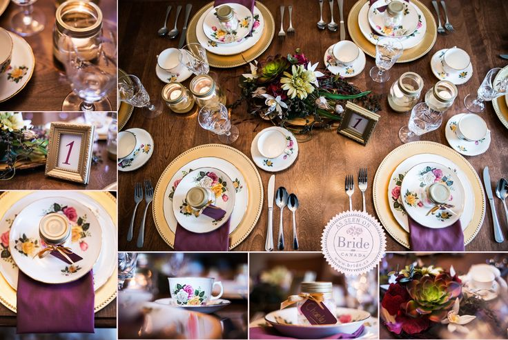 The vintage decor designed by Jessica Grenon as seen on BRIDE.Canada