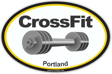 Designed custom car magnets for crossfit portland.