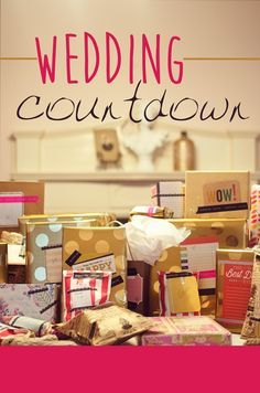 A fun wedding countdown for the bride