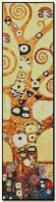 Life Tree Bookmark - Gustav Klimt Fine art cross stitch pattern. Color chart available. http://www.artofstitching.com/index.php?main_page=product_info&cPath=45_145&products_id=1116