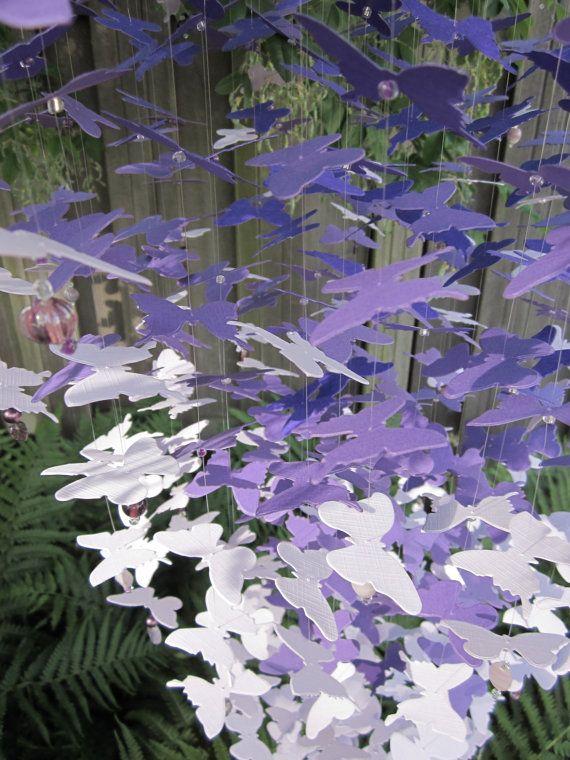 Schitterende grote vlinder mobiel van ongeveer 400 door SierGoed
