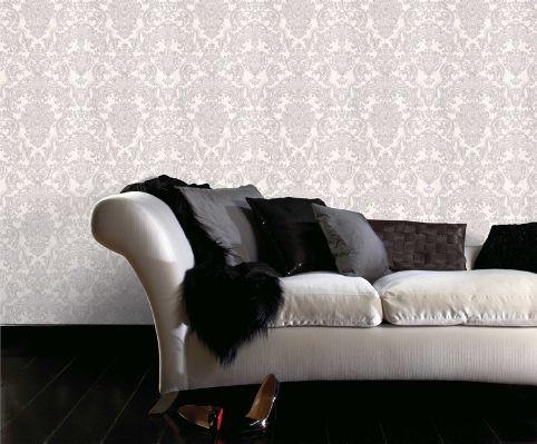 grey/white wallpaper, Bunnings
