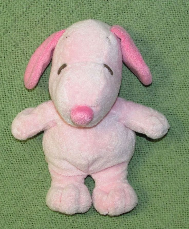 """Ty Musical PINK SNOOPY Plush Soft Stuffed 2011 Plays Theme Music 11"""" Peanuts Toy #Ty"""