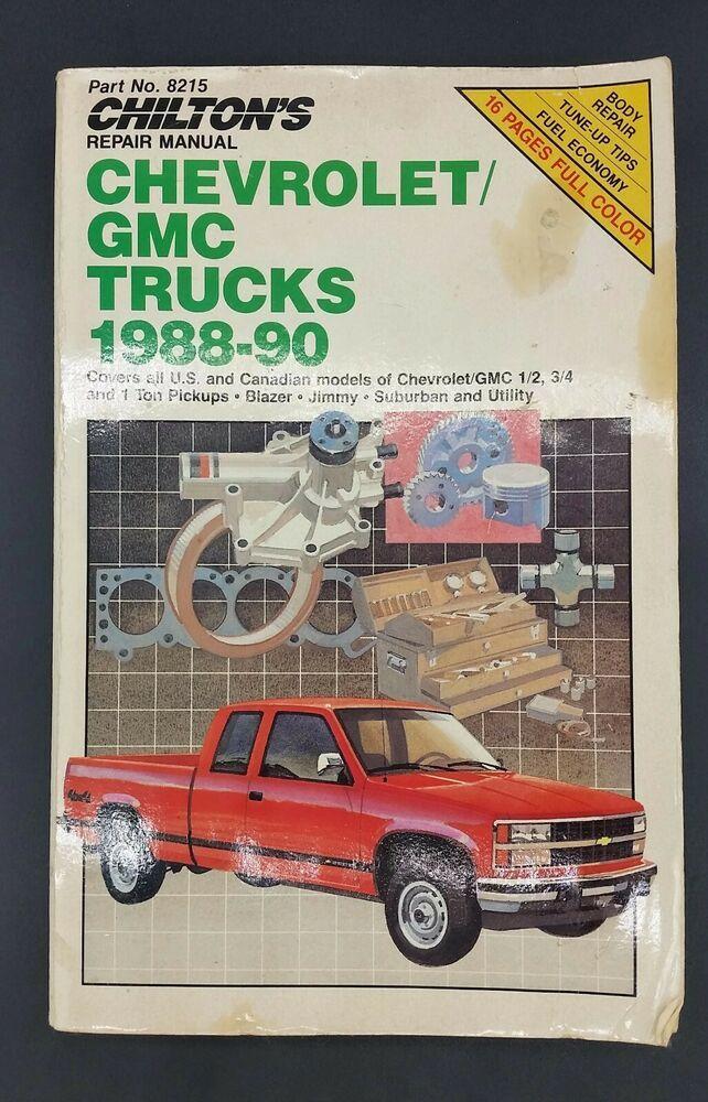 Advertisement Ebay Chilton Repair Manual 8215 Chevy Gmc Truck