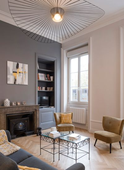 Interieur maison de maitre moderne - Renovation mur ancien interieur ...