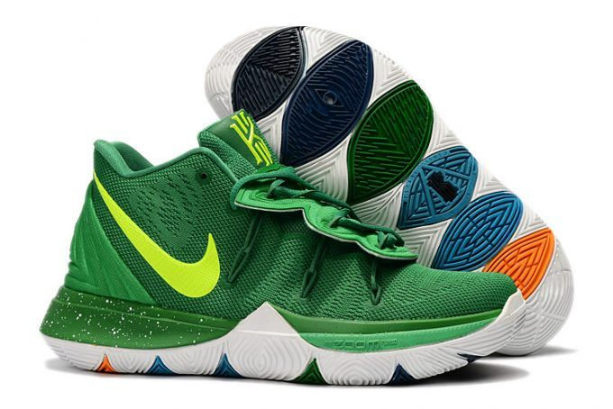 sports shoes 638a4 6e1bd Buy Nike Kyrie 5 Green Volt-White Basketball Shoes Online-4