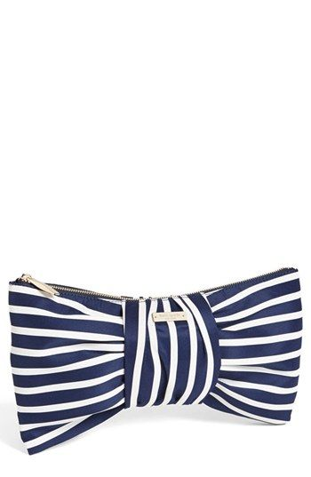 striped clutch by Kate Spade
