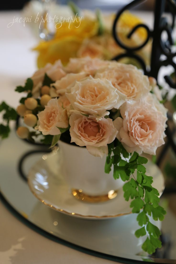 Teacup centerpieces