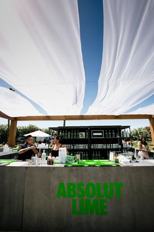 Shade structure // <p> Republic Records, a division of Universal Music Group, teamed up with SBE on a two-day event called the Hyde...