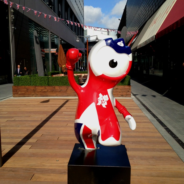 One of the Olympic logos at Westfield, London