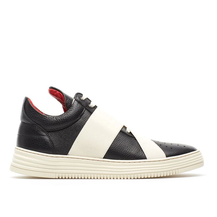 Low Top crossed sneakers from the Filling Pieces collection in black