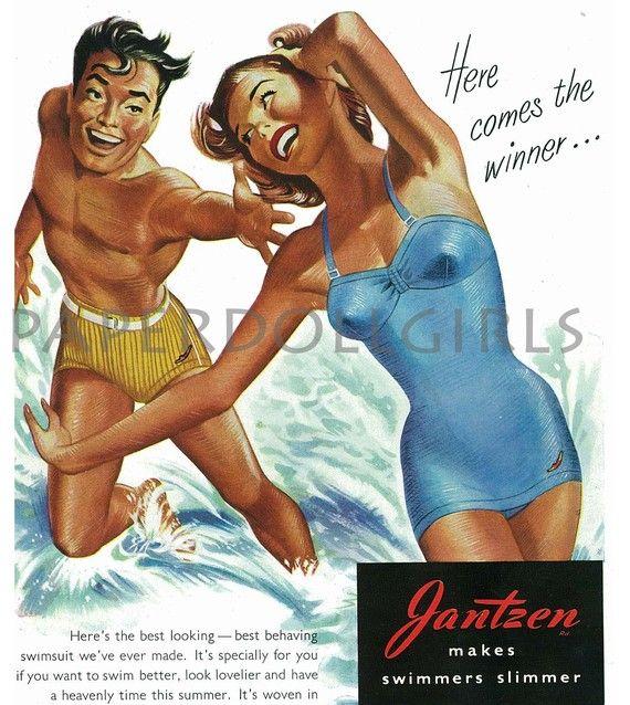 !: Vintage Wardrobe, Swimsuits Vintage, Jantzen Swimsuits, Swimsuits Ads, Vintage Ads, Jantzen Vintage, Jantzen Obsession Vintage, Harpers Bazaars Magazines, Vintage Jantzen