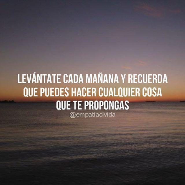 ¡Cree en ti! #motivacion