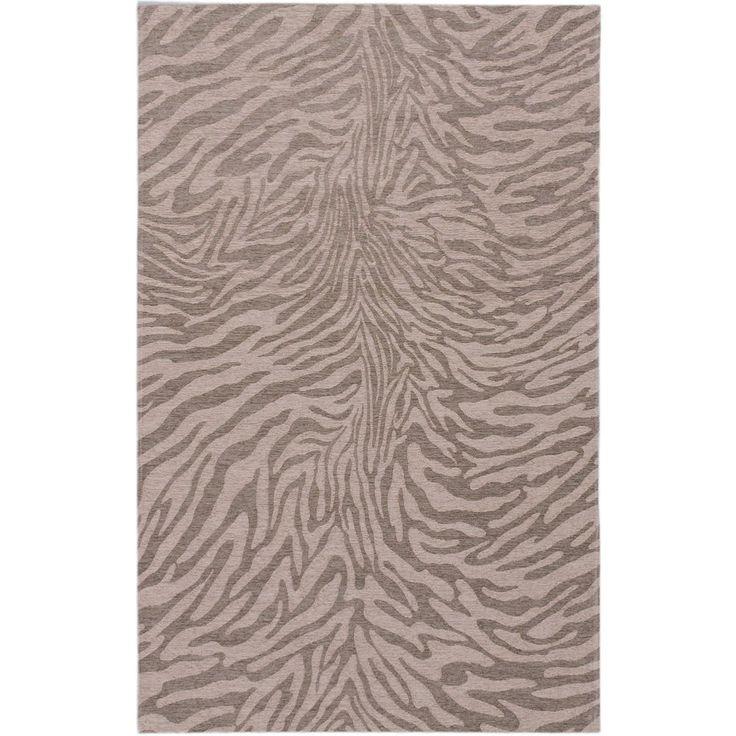 Ecarpetgallery Portico Beige Grey Animal Print Rug 5'0 x 8'0 Power Loomed #None