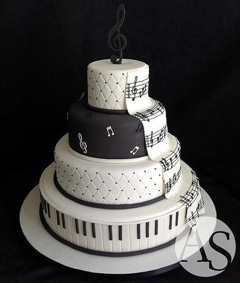 Cake Design Musical Notes : 793 best Music Cakes images on Pinterest Music cakes ...