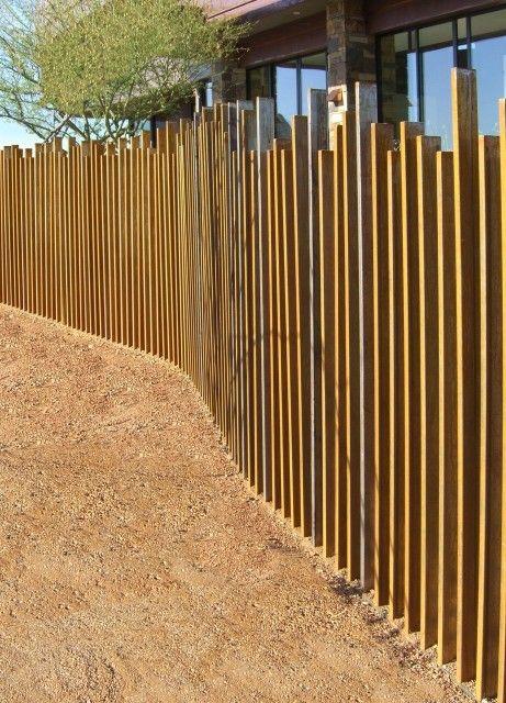 vertical slat fence