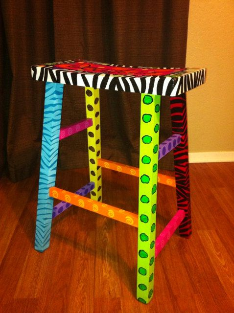 Best 20 Hand Painted Stools Ideas On Pinterest