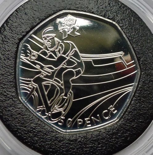 Fifty #pence 50p 2011 silver prooflike  #olympics 2012 # cycling (no coa),  View more on the LINK: 	http://www.zeppy.io/product/gb/2/311786878831/