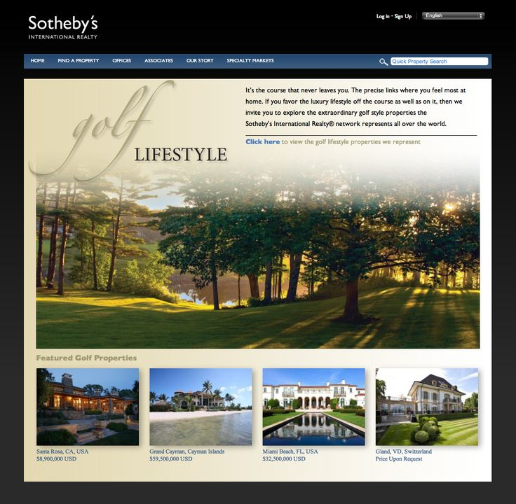 """Classy design of real estate """"Lifestyle"""" Page"""