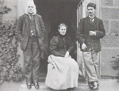 Norman Warne | Potter with her father Rupert and her brother Walter Bertram in 1894]