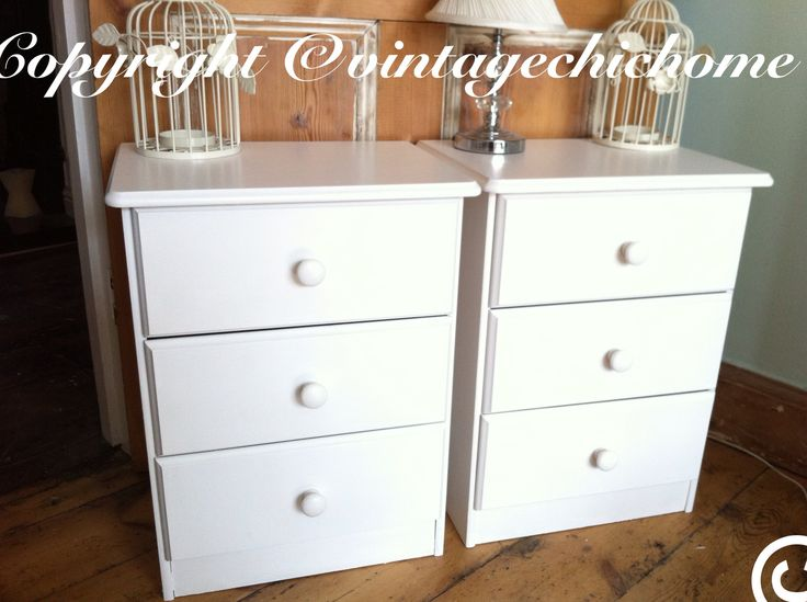 shabby chic bedside tables for a customer www