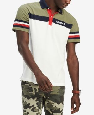 4b3ba6800 TOMMY HILFIGER MEN'S CUSTOM FIT DAKOTA COLORBLOCKED POLO, CREATED FOR  MACY'S. #tommyhilfiger #