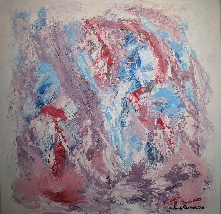 Maleri Love to you 80x80 cm